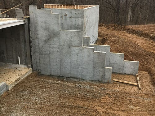 concrete stair wall maryville illinois